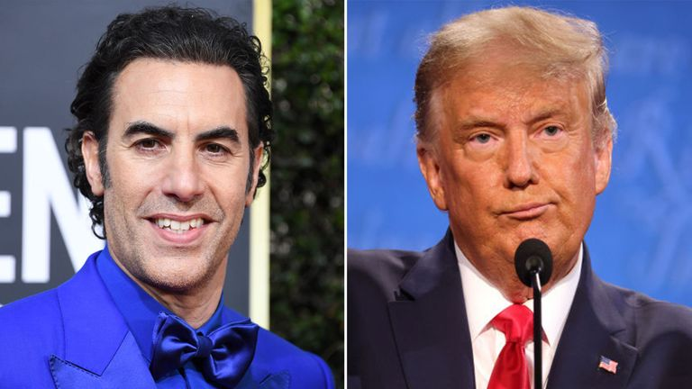 Borat star Sacha Baron Cohen has traded insults with Donald Trump