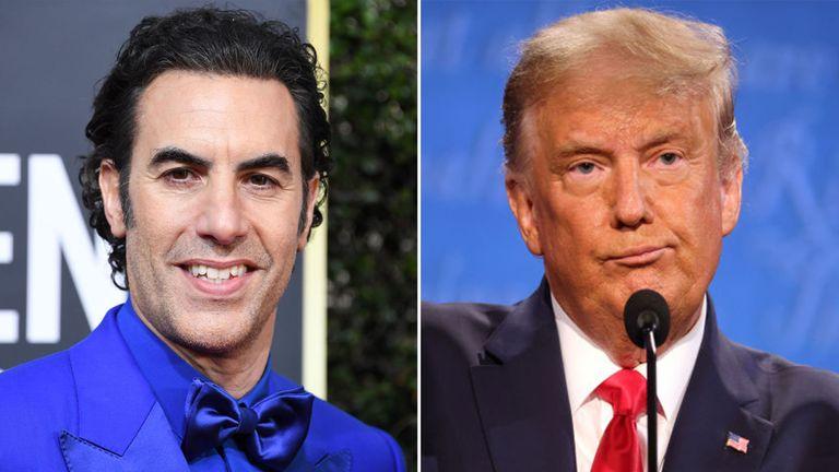 Borat star Sacha Baron Cohen has traded insults with Donald Trump