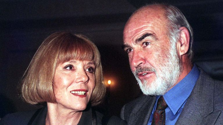 File photo dated 29/11/96 of Dame Diana Rigg and Sean Connery attending the 1996 Evening Standard Drama Awards at the Savoy Hotel in London. The Avengers actress Dame Diana Rigg has died at the age of 82, her agent has said.