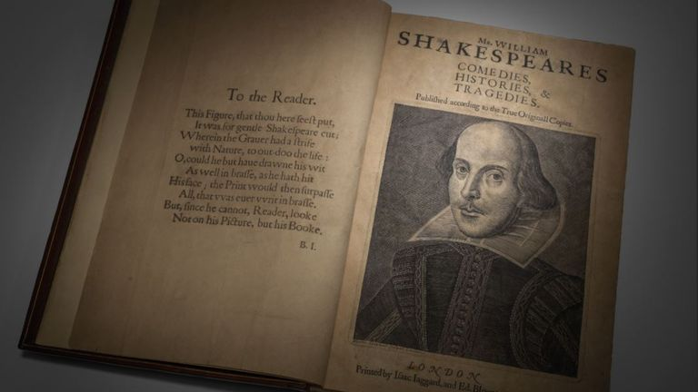 This copy of Shakespeare's First Folio sold for £7.7m
