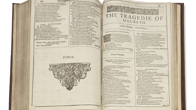 The collection includes Macbeth, Twelfth Night, Measure For Measure and Julius Caesar.