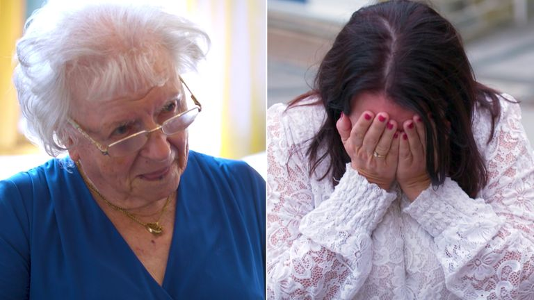 Shirley Scott (L) must find a new place to live after Newfield Nursing Home closed down
