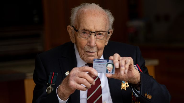 Sir Thomas, 100, was presented with the first ever railcard especially for veterans