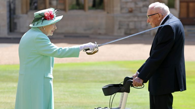 Sir Thomas received a knighthood in July after he raised GBP33m for the NHS