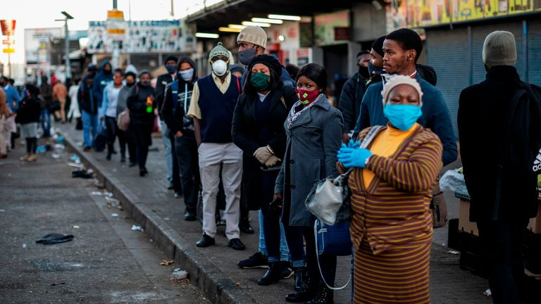 During lockdown residents were forced to queue together for essentials