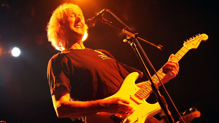 Spencer Davis of The Spencer Davis Group performs onstage at The Fillmore New York at Irving Plaza on July 10, 2009 in New York City
