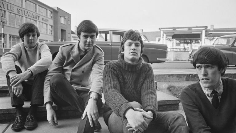 British band the Spencer Davis Group, UK, December 1965. From left to right, they are guitarist Spencer Davis, drummer Pete York, keyboard player Steve Winwood and his brother, bass player Muff Winwood