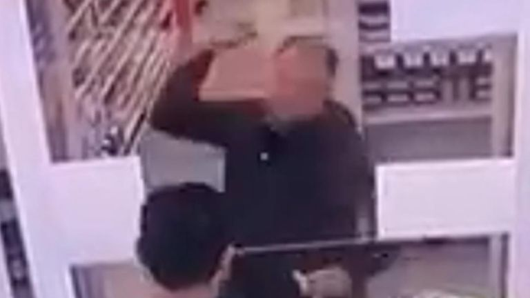 A sneeze guard was smashed by a disgruntled customer at a store in Sydney.