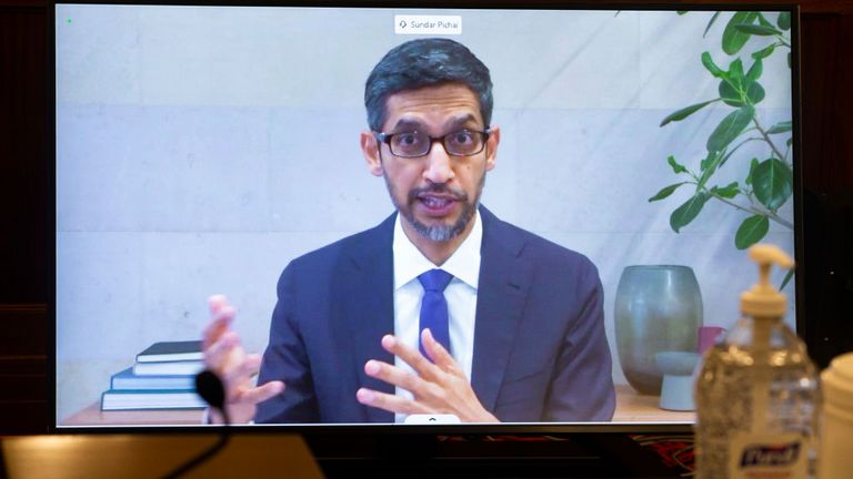Google and Alphabet chief executive Sundar Pichai urged politicians to be 'thoughtful' about legal changes