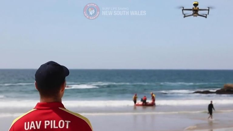 Drones have been monitoring the beach for sharks