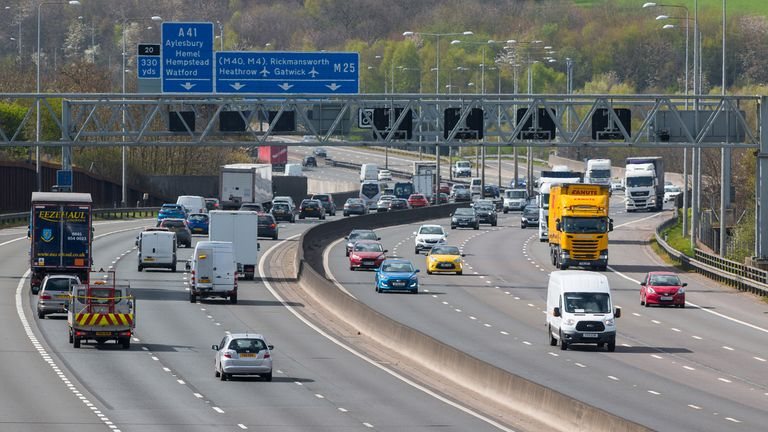 Surrey Police went undercover in an HGV to monitor traffic offences on the M25. File pic