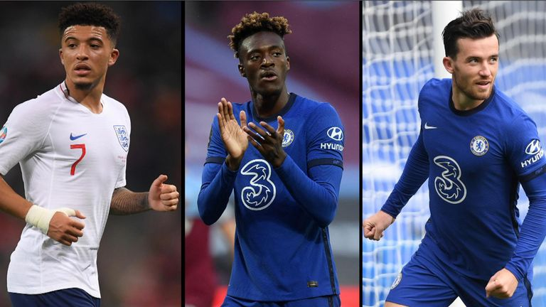 Footage appeared to show Jadon Sancho, Tammy Abraham and Ben Chilwell at a party in London