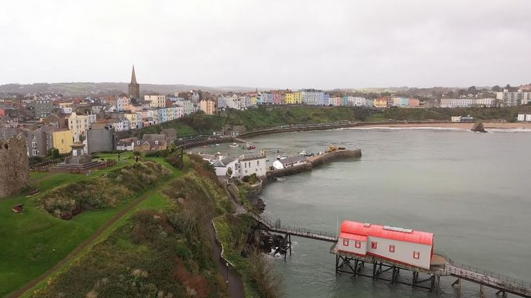 Tenby Wales, seafront