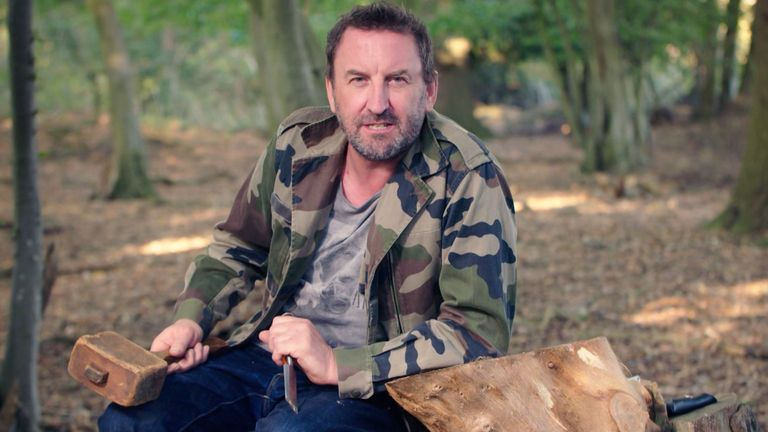Comedian Lee Mack presents Sky History show The Chop. Pic: Sky UK/A&E Television Networks
