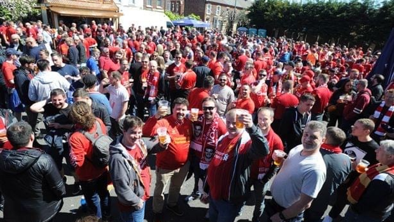 The back garden of The Sandon on a normal match day. Pic: The Sandon