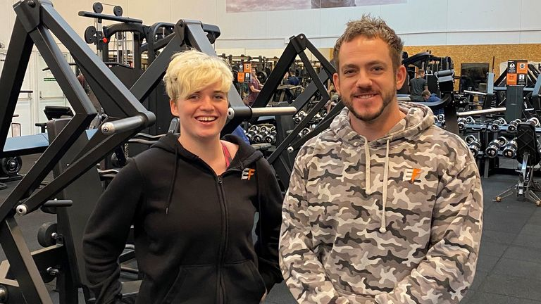 Empowered fit gym owners Thea Holden and Chris Ellerby-Hemmings