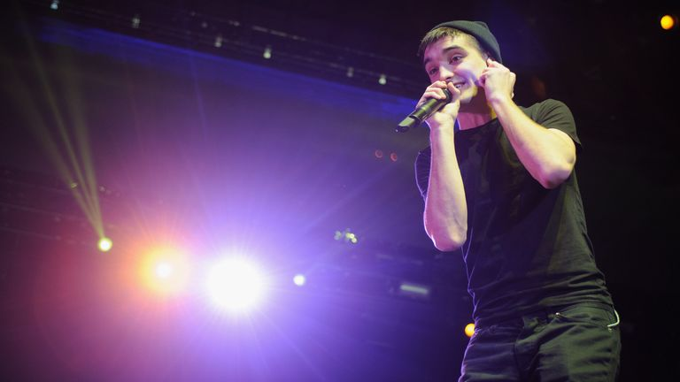 Tom Parker of The Wanted performs during the B96 Pepsi Jingle Bash at Allstate Arena on December 14, 2013 in Chicago, Illinois