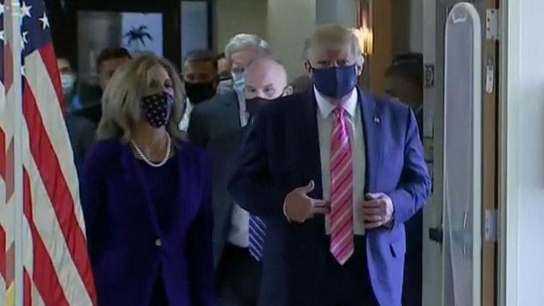 Trump cast his vote in Florida - a crucial state