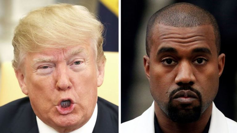 Kanye West previously expressed support for Trump but has since launched his own presidential bid and insisted he has 'more money than Trump'
