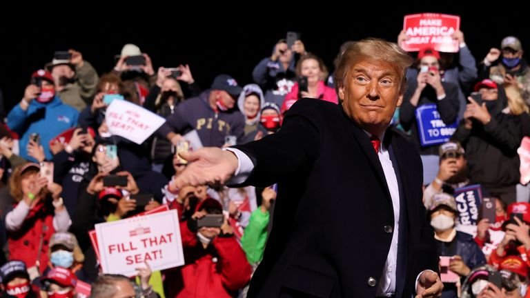 President Trump played to an enthusiastic audience in Johnstown, Pennsylvania