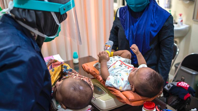 The Bacillus CalmetteGuérin (BCG) vaccine for tuberculosis is given to babies in Indonesia in June