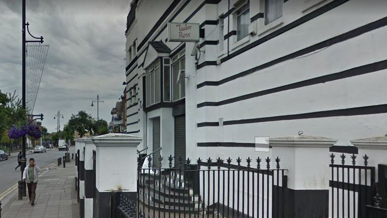 The reception took place at the Tudor Rose, Southall. Pic: Google Street View