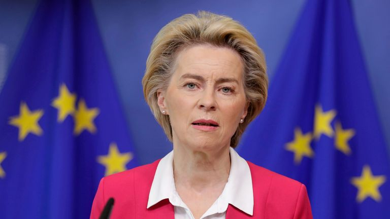 EU Commission president Ursula von der Leyen said the PM had 'failed' to heed her warning