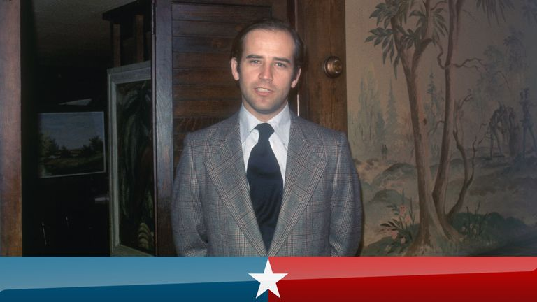 1/1973- Wilmington, DE: Closeups of Senator of Joseph Biden. Undated color slide.