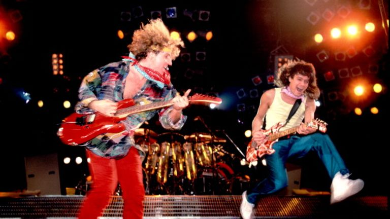 Van Halen became of the biggest rock band of the 1980s (pictured in Chicago in 1986)
