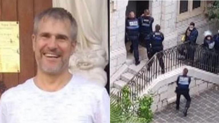 Vincent Loques was one of the victims. Pic of police: Farouk Bed Mrad