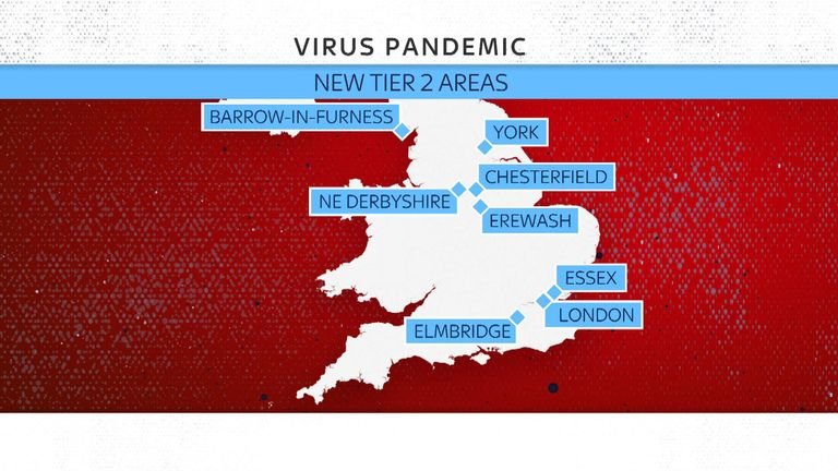 Coronavirus Tier 2 Lockdown Restrictions Imposed On Essex York Barrow Chesterfield And Others Uk News Sky News