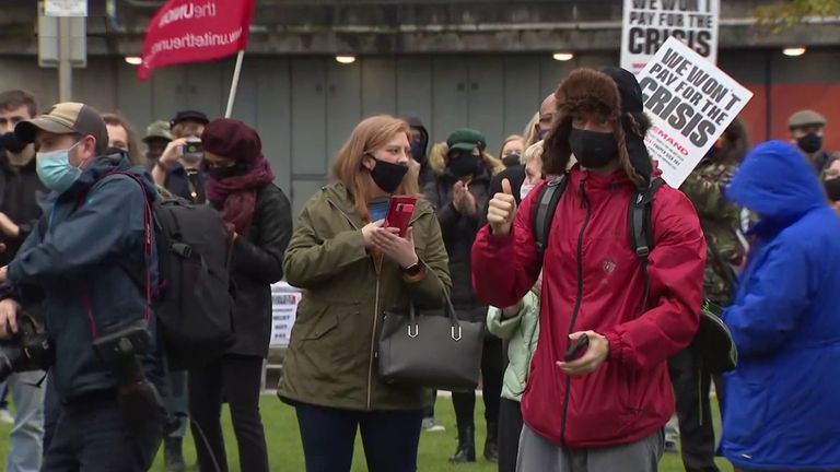 Protests against the government grow in the North of England