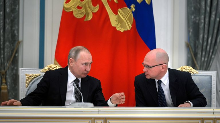 Mr Kiriyenko works closely with President Vladimir Putin