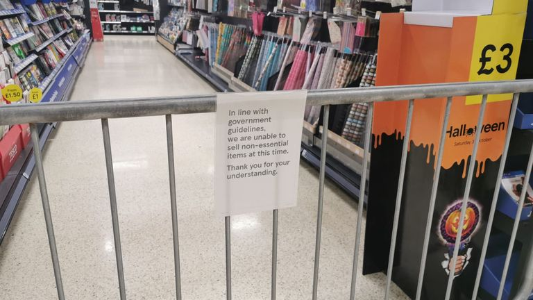Stationery is also unavailable to shoppers at the Pengam Green store