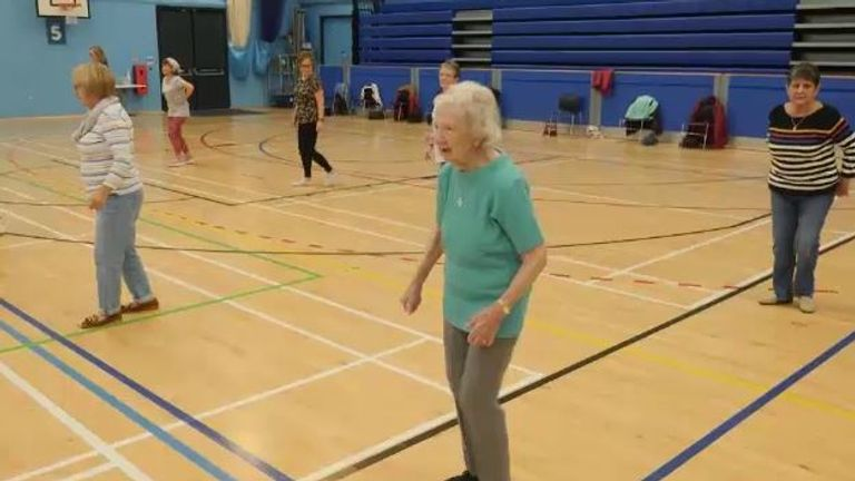 93-year-old Violet Walpole in Oldham