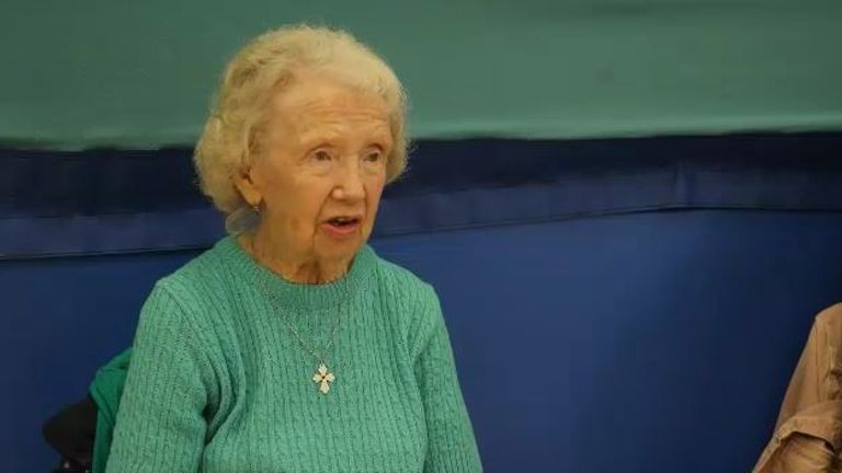 93-year-old Violet Walpole from Oldham