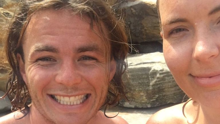 Missing Australian man Will Mainprize with his sister Emily Hastings. Pic: Supplied