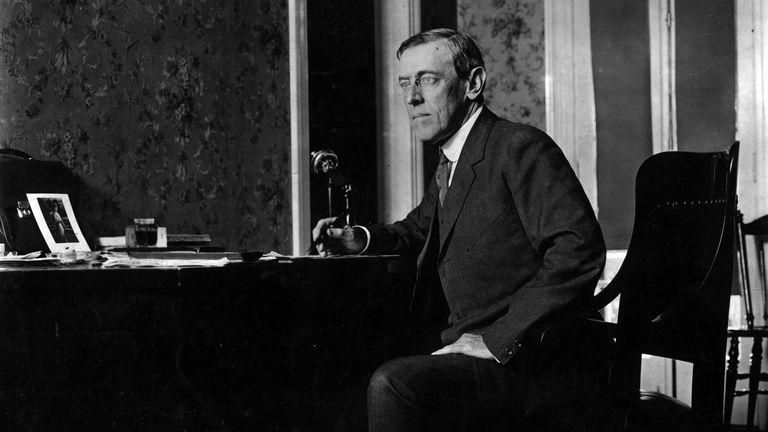 Woodrow Wilson caught the Spanish flu
