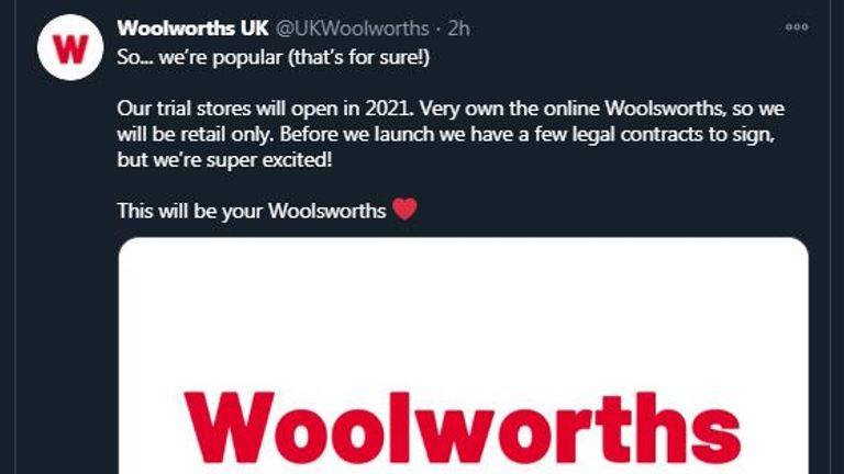 This will be your Woolsworths. Strange account says Woolworths is returning next year but was it true?