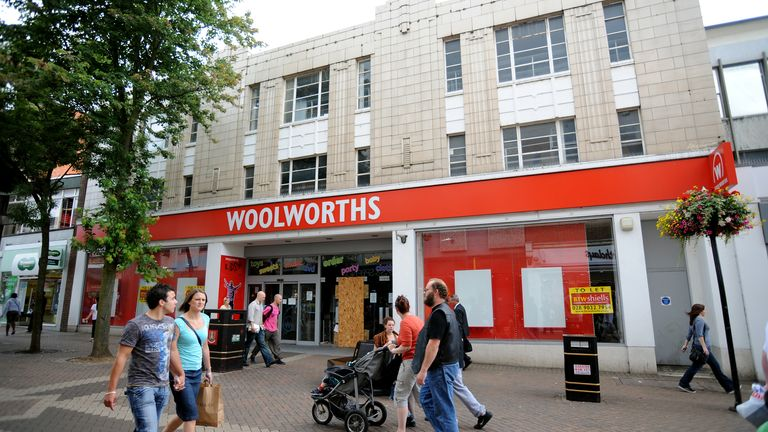 General view Woolworths store at 42-46 Abington Street, Northampton. Northamptonshire. NN1 2AZ