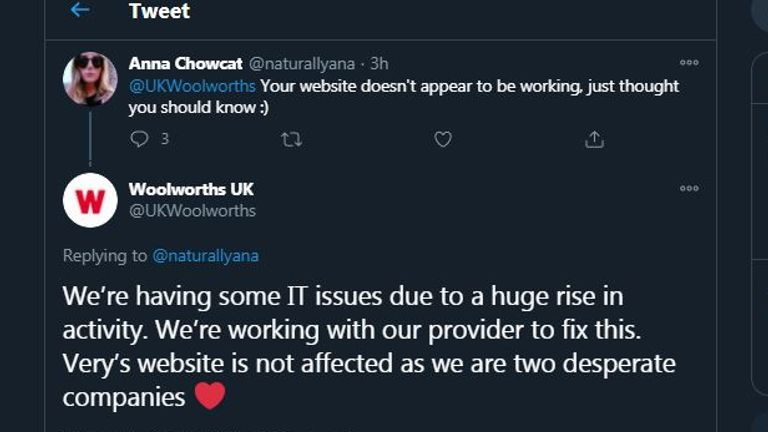 "Why is the ""Woolworths"" website down? A suspicious Twitter account says Woolworths is returning."