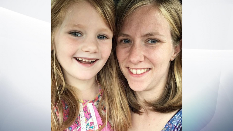Zoe Prose and one of her daughters. Pic: Instagram
