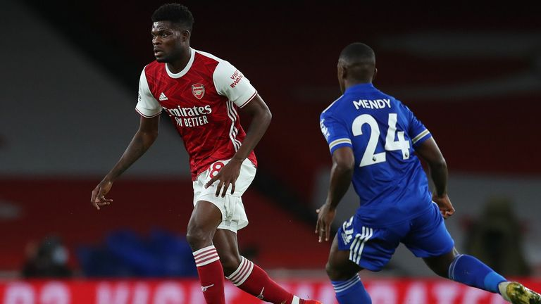 Thomas Partey made his home debut against Leicester