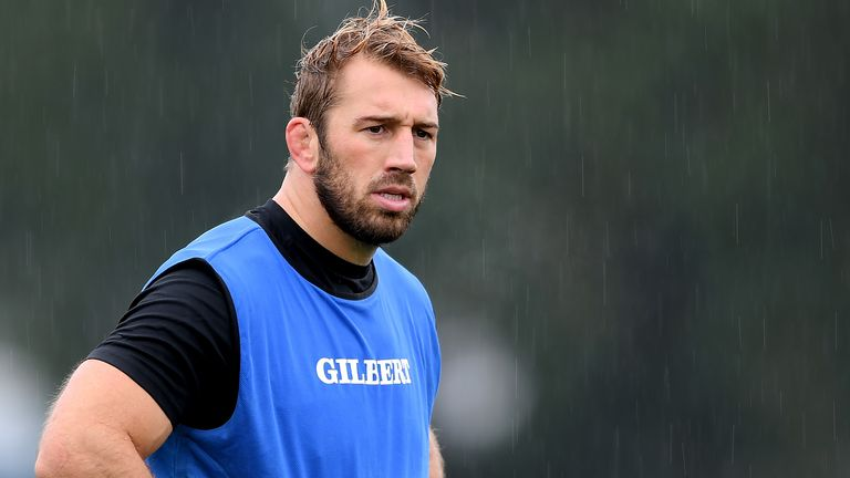 Chris Robshaw in Barbarians training