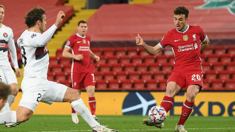 Diogo Jotta tapped home to put Liverpool ahead
