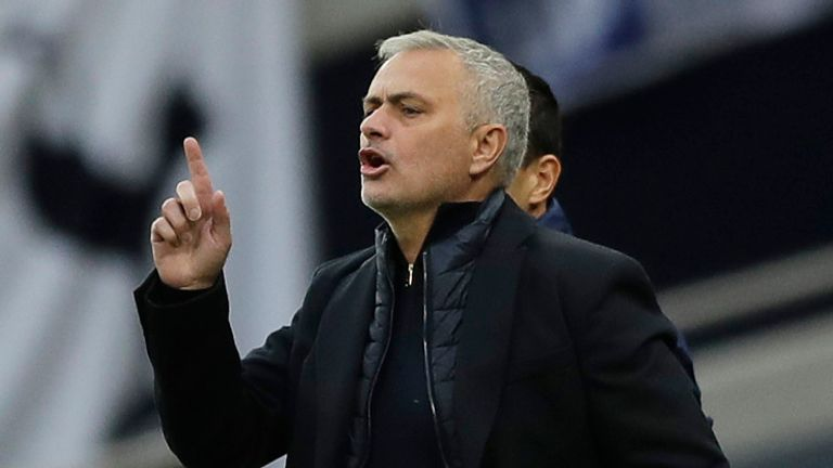 Jose Mourinho says it is not an 'obsession' for Spurs to be top of the Premier League