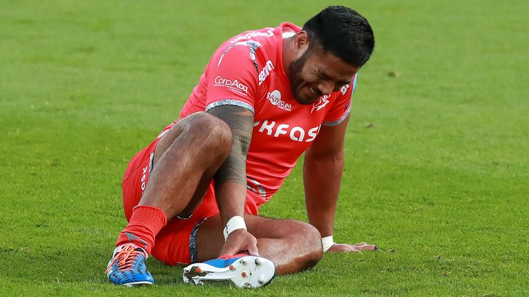 Manu Tuilagi tore his Achilles in Sale's win over Northampton Saints