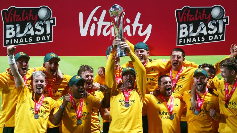 Watch as Notts Outlaws are crowned Vitality Blast Champions for 2020