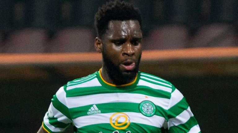 ZENICA, BOSNIA - OCTOBER 01: Celtic's Odsonne Edouard in action during the UEFA Europa League Qualifier between Sarajevo and Celtic at Bilino Polje Stadium, on October 01, 2020, in Zenica, Bosnia and Herzegovina. (Photo by Nikola Krstic / SNS Group)