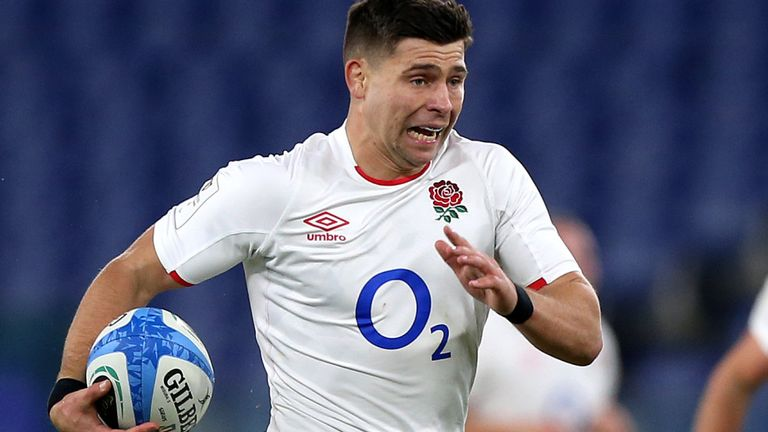 Ben Youngs scores England's first try against Italy